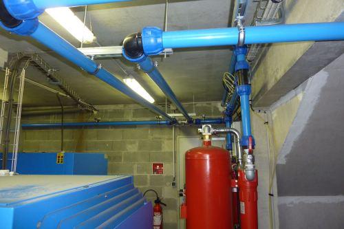 Red de aire comprimido con tubos de aluminio